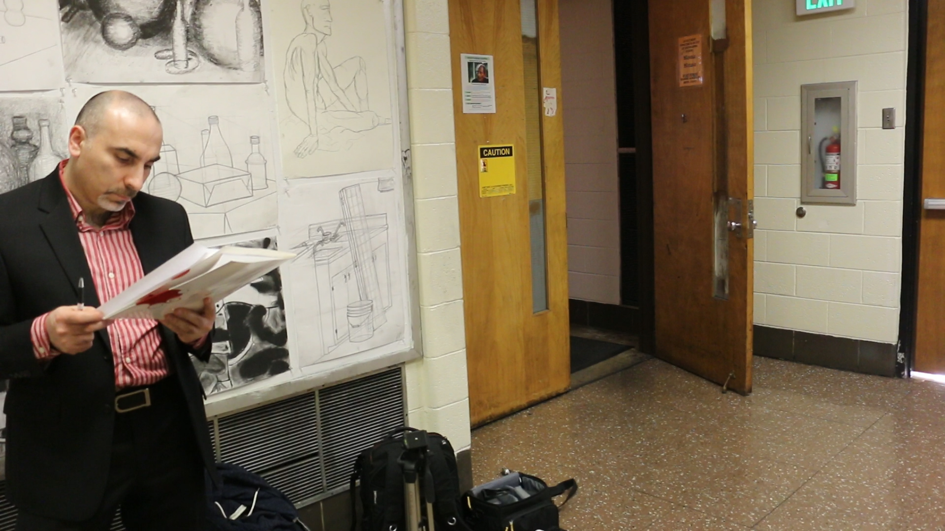 Sam in Hallway