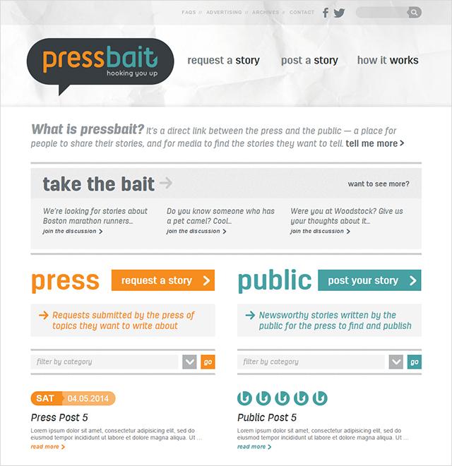 Pressbait website screenshot