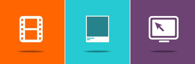 Video reel, Pantone swatch, Webinar