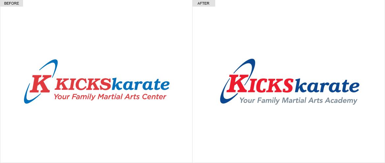 Kicks Karate Logos