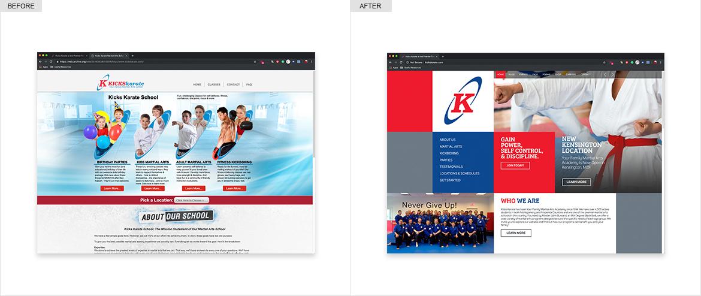 Kick's Karate | Website