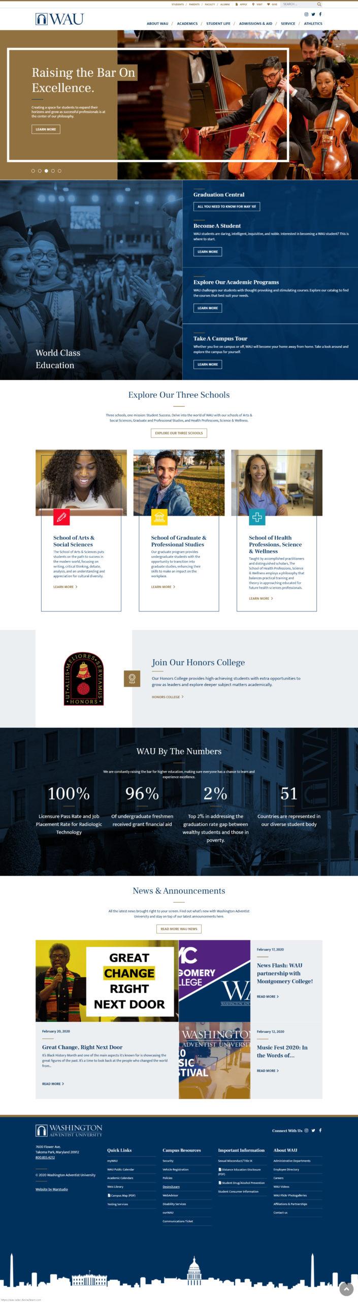 WAU Website