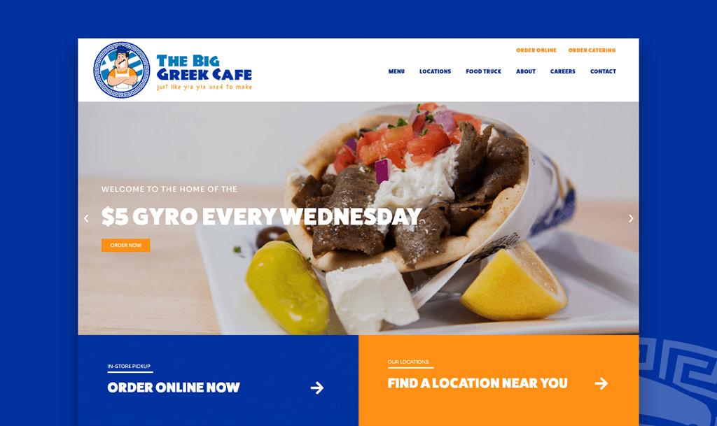Big Greek Café New Website